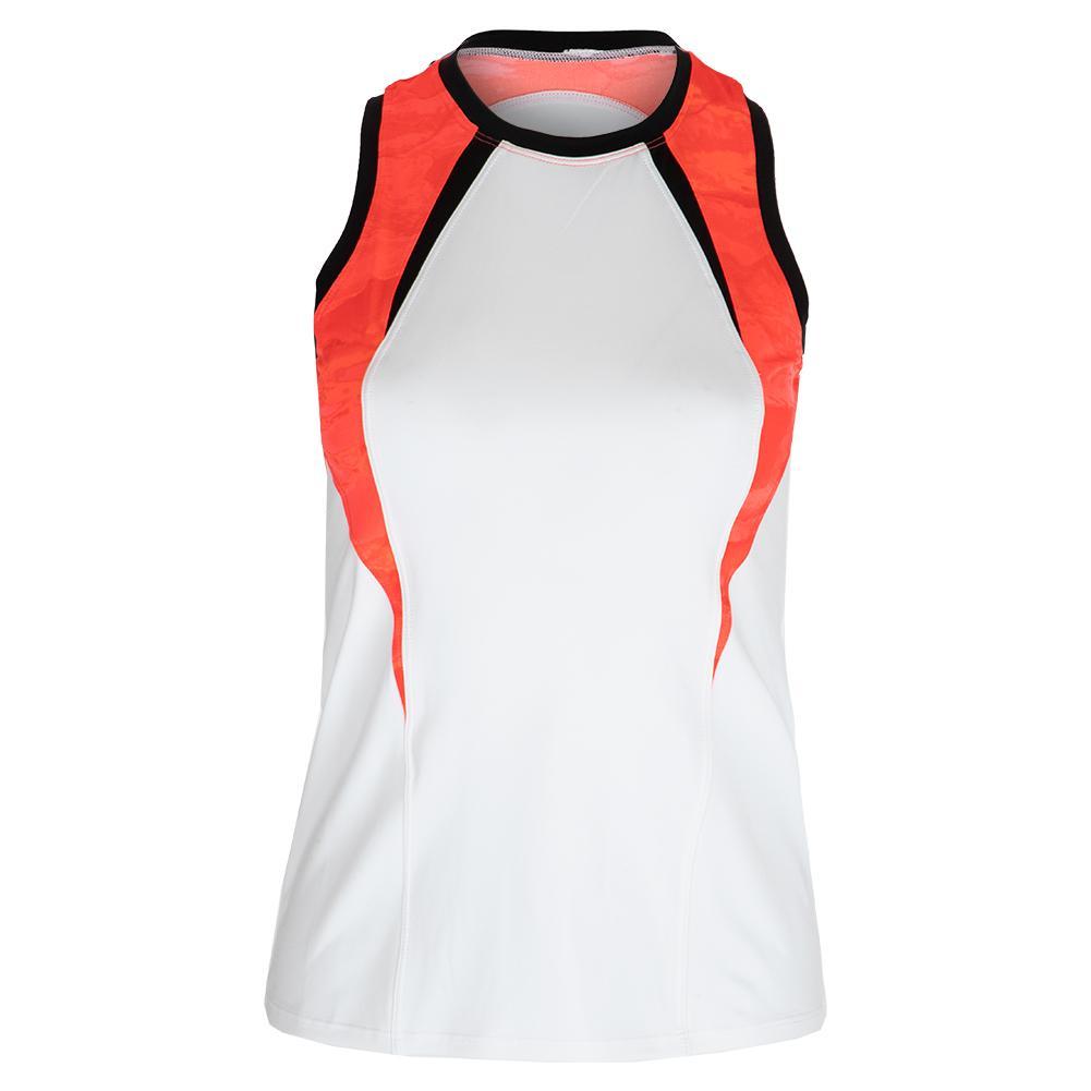 Women's Jasmin Racerback Tennis Tank White And Set In Stone