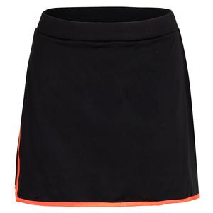 Women`s Malaya 14.5 Inch Tennis Skort Black and Popsicle Trim