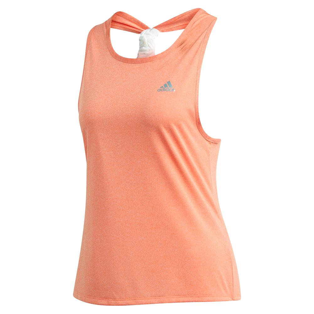Women's Club Tie Tennis Tank Hi- Res Coral
