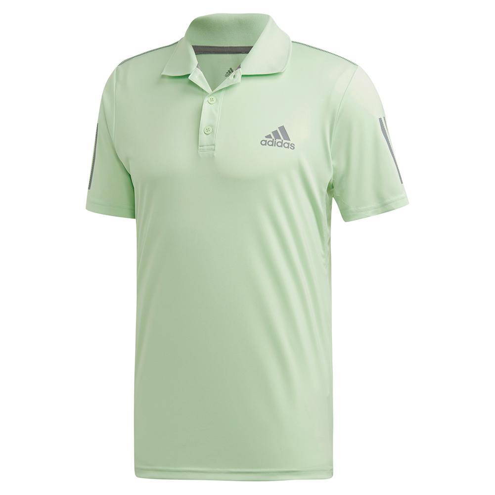Men's Club 3 Stripes Tennis Polo Glow Green And Grey Three