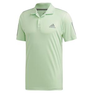 Men`s Club 3 Stripes Tennis Polo Glow Green and Grey Three