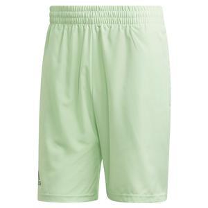 Men`s Club 9 Inch Tennis Short Glow Green and Grey Three