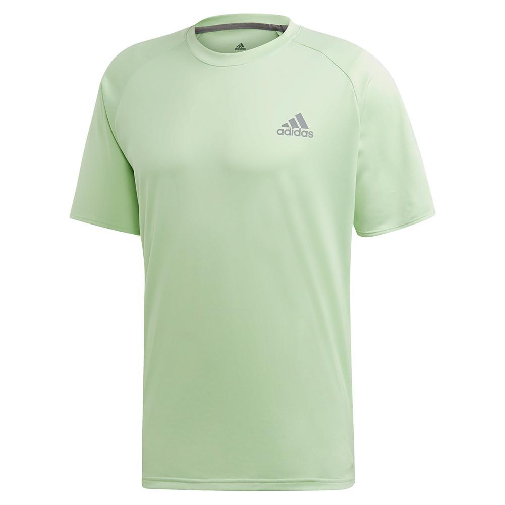 Men's Club Color- Block Tennis Top Glow Green And Grey Three