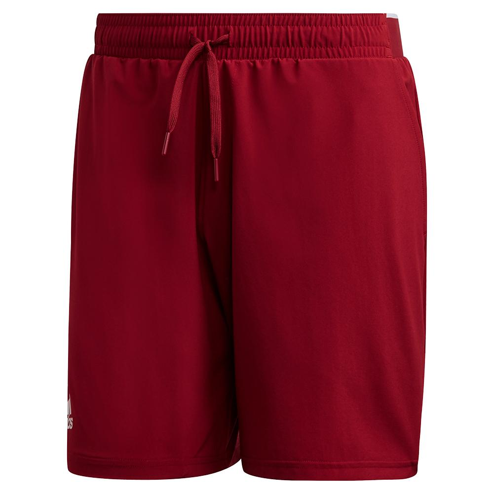 Men's Club Stretch Woven 7 Inch Tennis Short Collegiate Burgundy