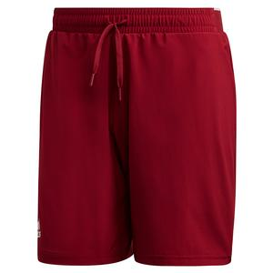 Men`s Club Stretch Woven 7 Inch Tennis Short Collegiate Burgundy