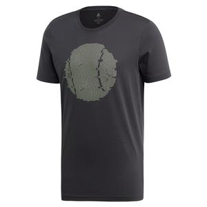 Men`s NY Flushing Graphics Tennis Tee Carbon