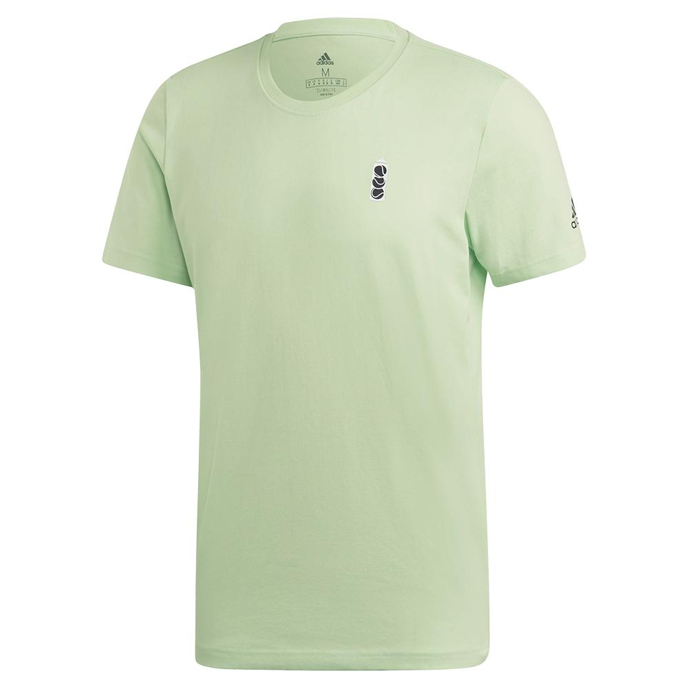 Men's Ny Graphic Tennis Tee Glow Green