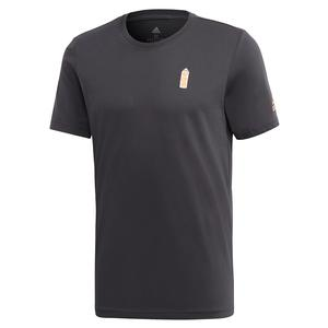 Men`s NY Graphic Tennis Tee Carbon