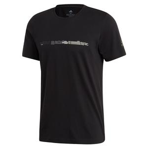 Men`s MatchCode Graphic Tennis Tee Black