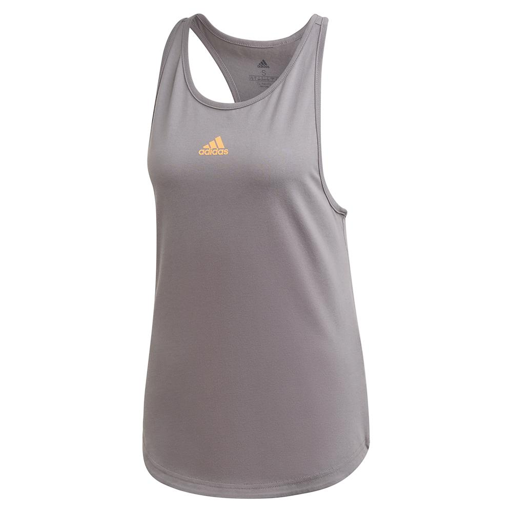 Women's Ny Graphic Tennis Tank Grey Three