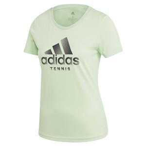 Women`s Category Logo Tennis Tee Glow Green