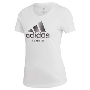Women`s Category Logo Tennis Tee White