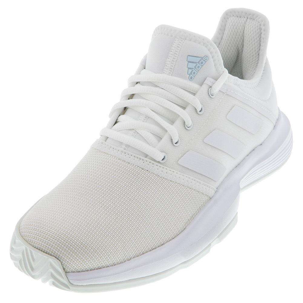 Women's Gamecourt Tennis Shoes White And Blue Tint