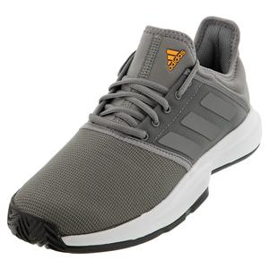 Men`s GameCourt Tennis Shoes Core Gray Three and White