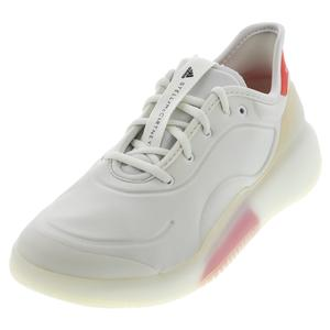 Women`s Stella McCartney Court Boost Tennis Shoes White and Active Red