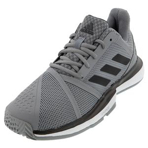 Men`s CourtJam Bounce Tennis Shoes Gray Three and Core Black