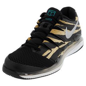 Men`s Air Zoom Vapor X Tennis Shoes Wheat and Metallic Silver