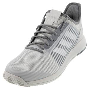 Men`s Adizero Defiant Bounce 2 Tennis Shoes Gray One and Gray Three