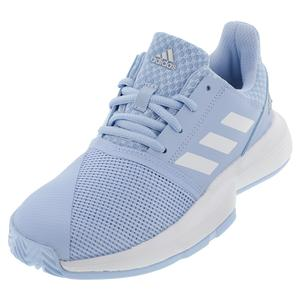 Juniors` CourtJam XJ Tennis Shoes Glow Blue and White