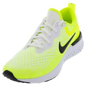 Men`s Odyssey React Running Shoes White and Volt