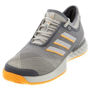 Men`s Adizero Ubersonic 3 Tennis Shoes Gray Three and Gray One