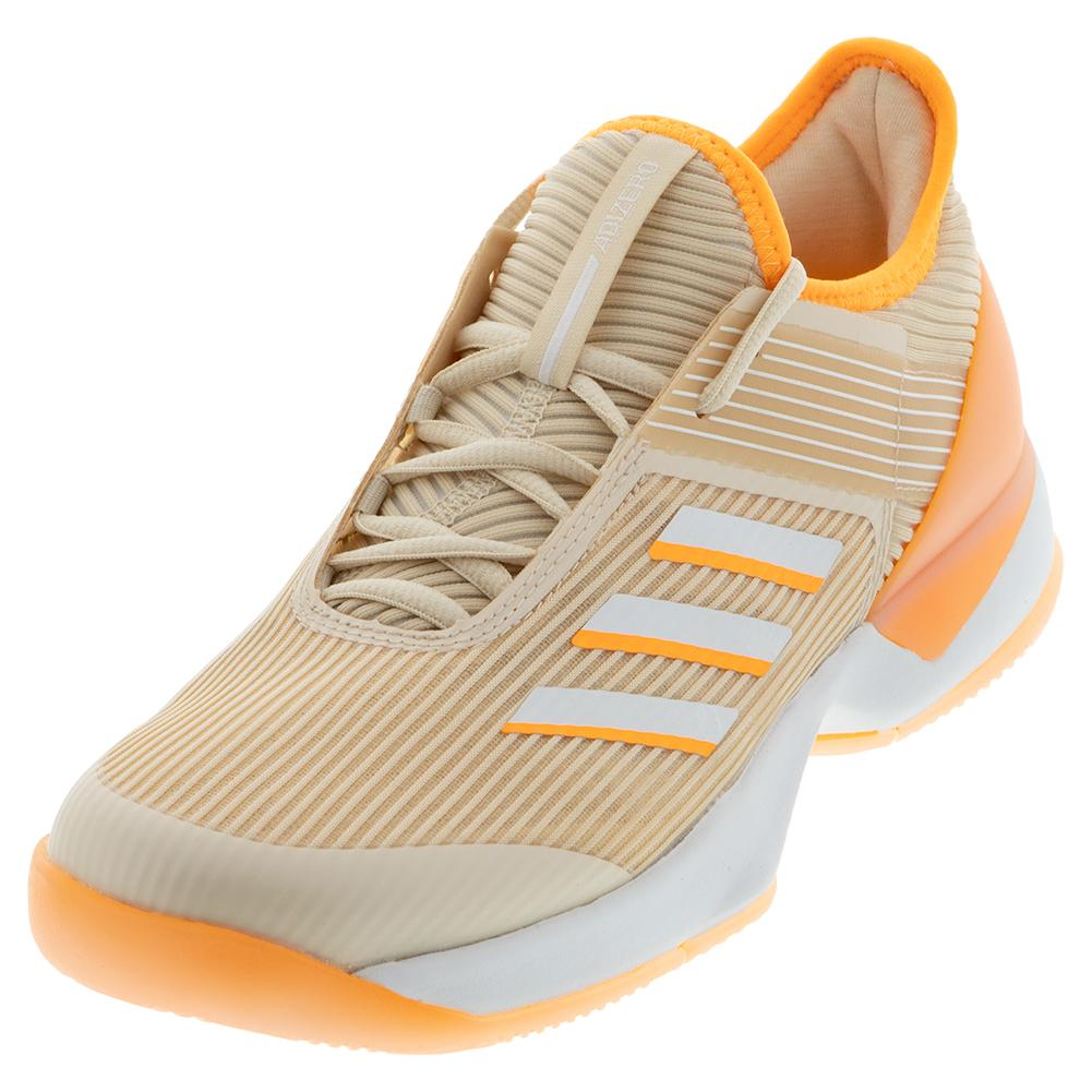 Women's Adizero Ubersonic 3 Tennis Shoes Linen And Flash Orange