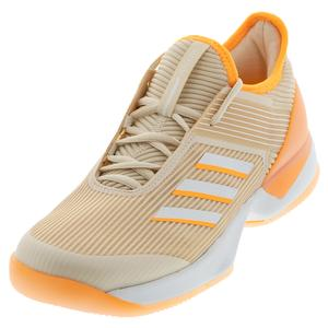 Women`s Adizero Ubersonic 3 Tennis Shoes Linen and Flash Orange