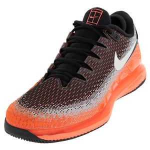 promo code 28bd1 53f35 NEW Men`s Air Zoom Vapor X Knit Tennis Shoes Black and Hot Lava Nike ...