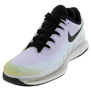 Women`s Air Zoom Vapor X Knit Tennis Shoes Pure Platinum and Black