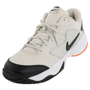 Men`s Court Lite 2 Tennis Shoes Light Bone and Black