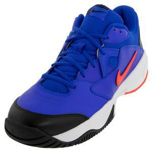 Men`s Court Lite 2 Tennis Shoes Racer Blue and Bright Crimson