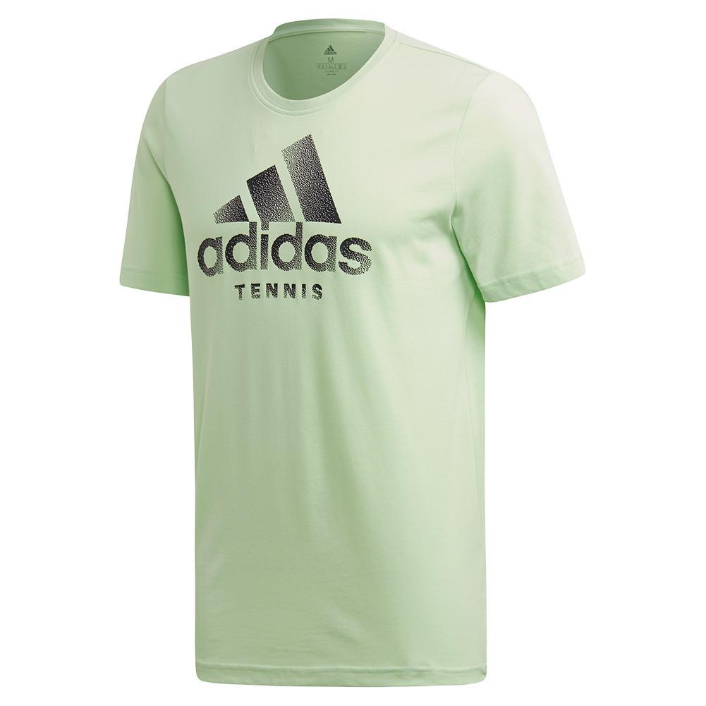 3cf5bd03f adidas Men`s Category Logo Tennis Tee Glow Green | Tennis Express