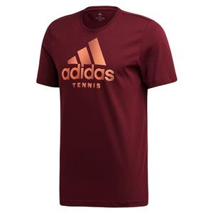 Men`s Category Logo Tennis Tee Maroon