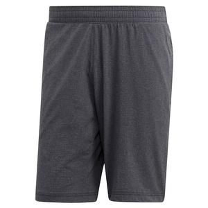 Men`s MatchCode Ergonomic 9 Inch Tennis Short Dark Grey Heather