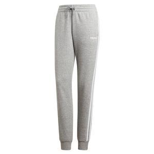 Women`s Essentials 3-Stripes Fleece Pant Medium Grey Heather and White