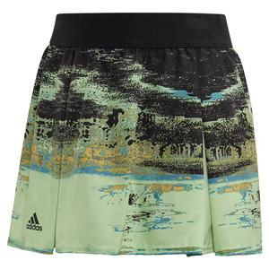 Girls` NY Tennis Skort Glow Green and Black