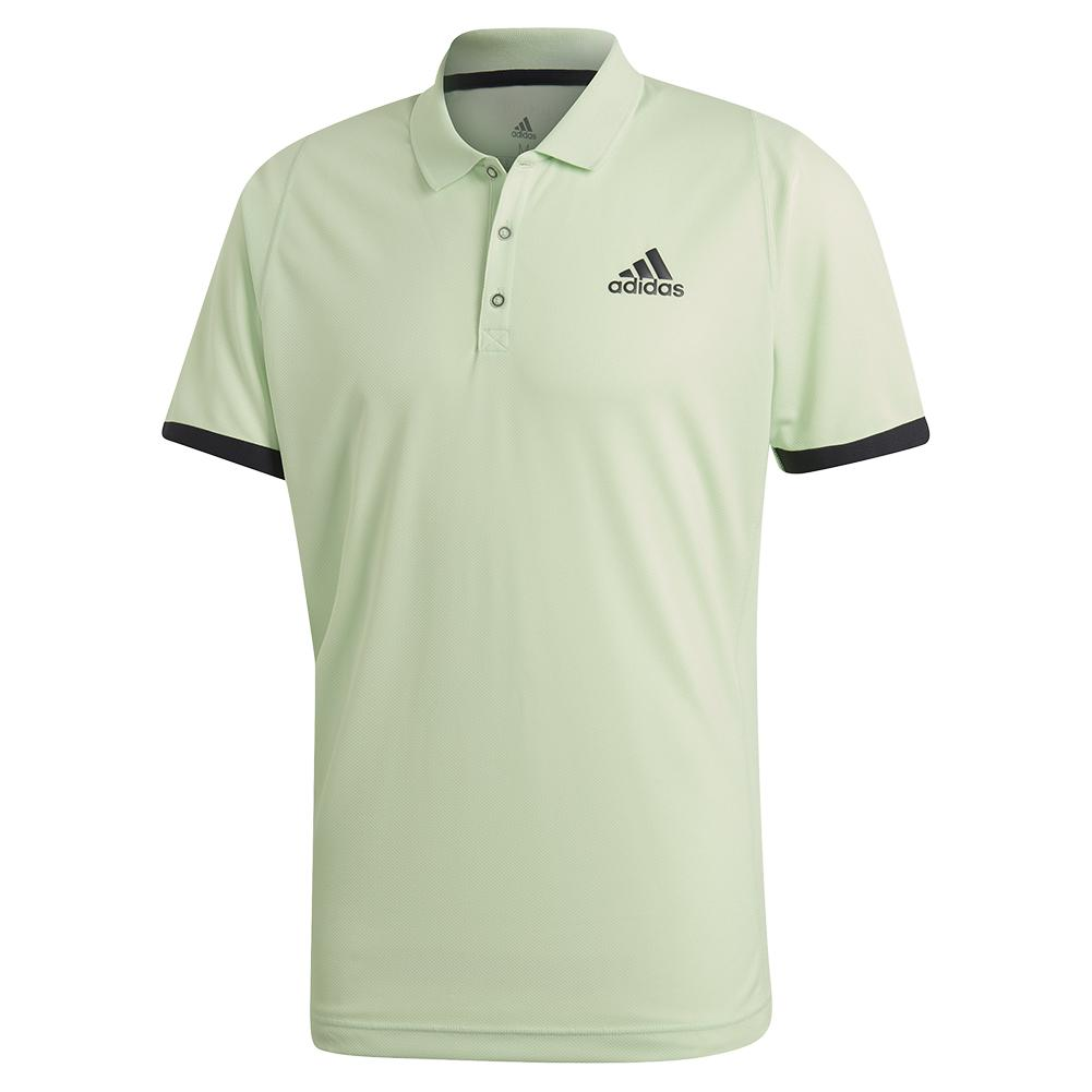 Men's Ny Tennis Polo Glow Green And Carbon