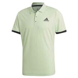 Men`s NY Tennis Polo Glow Green and Carbon