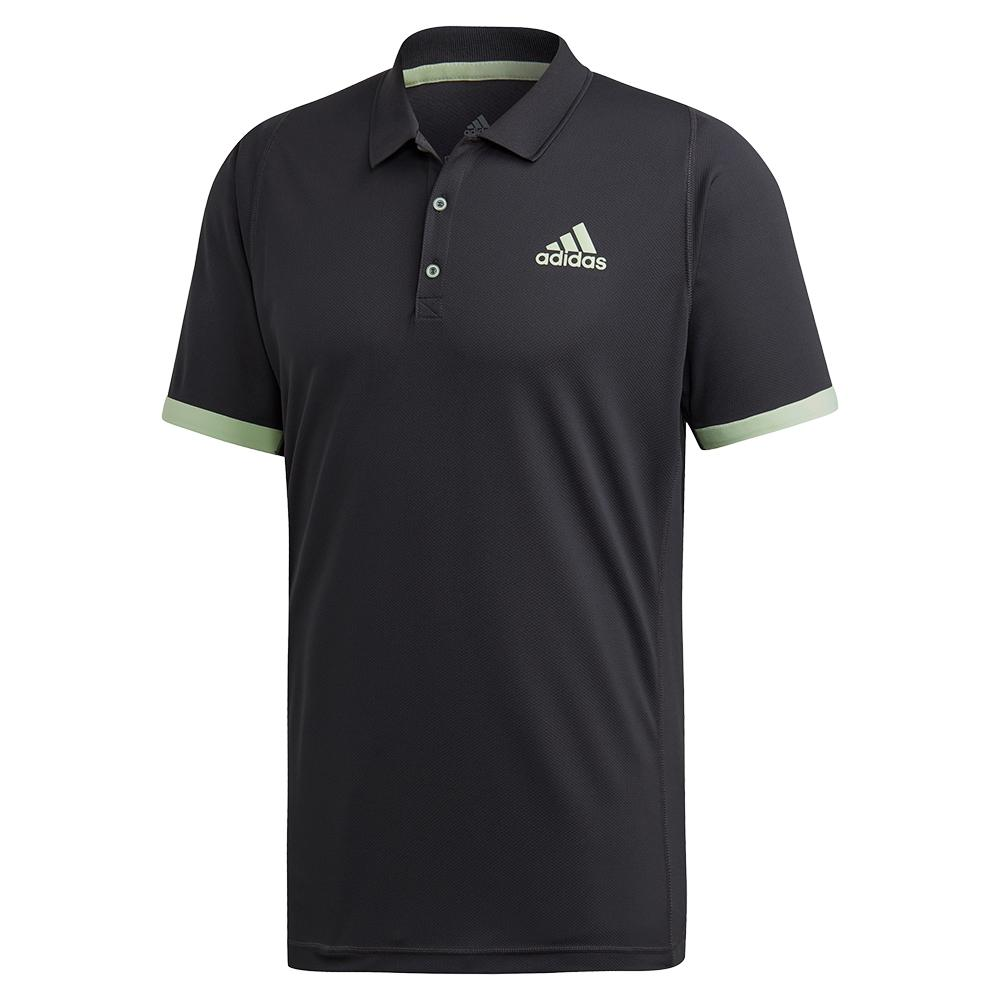 Men's Ny Tennis Polo Carbon And Glow Green