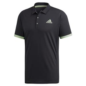 Men`s NY Tennis Polo Carbon and Glow Green