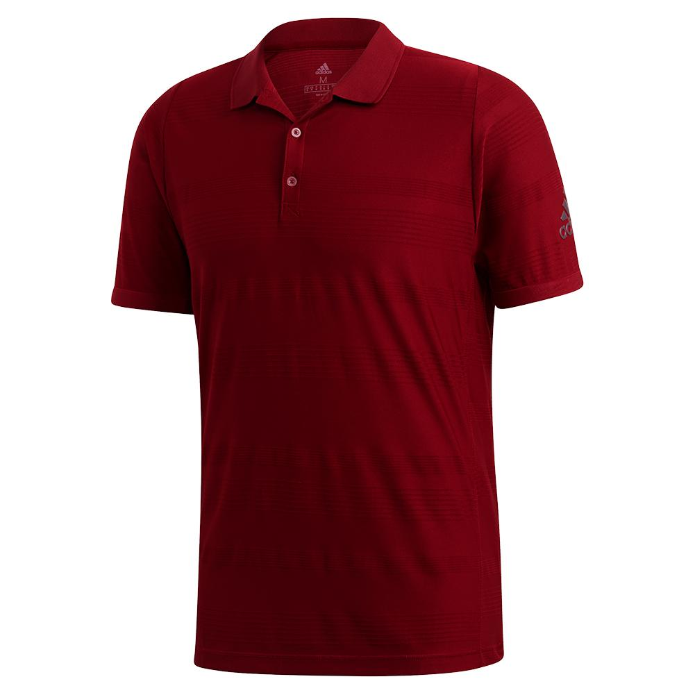Men's Matchcode Tennis Polo Collegiate Burgundy