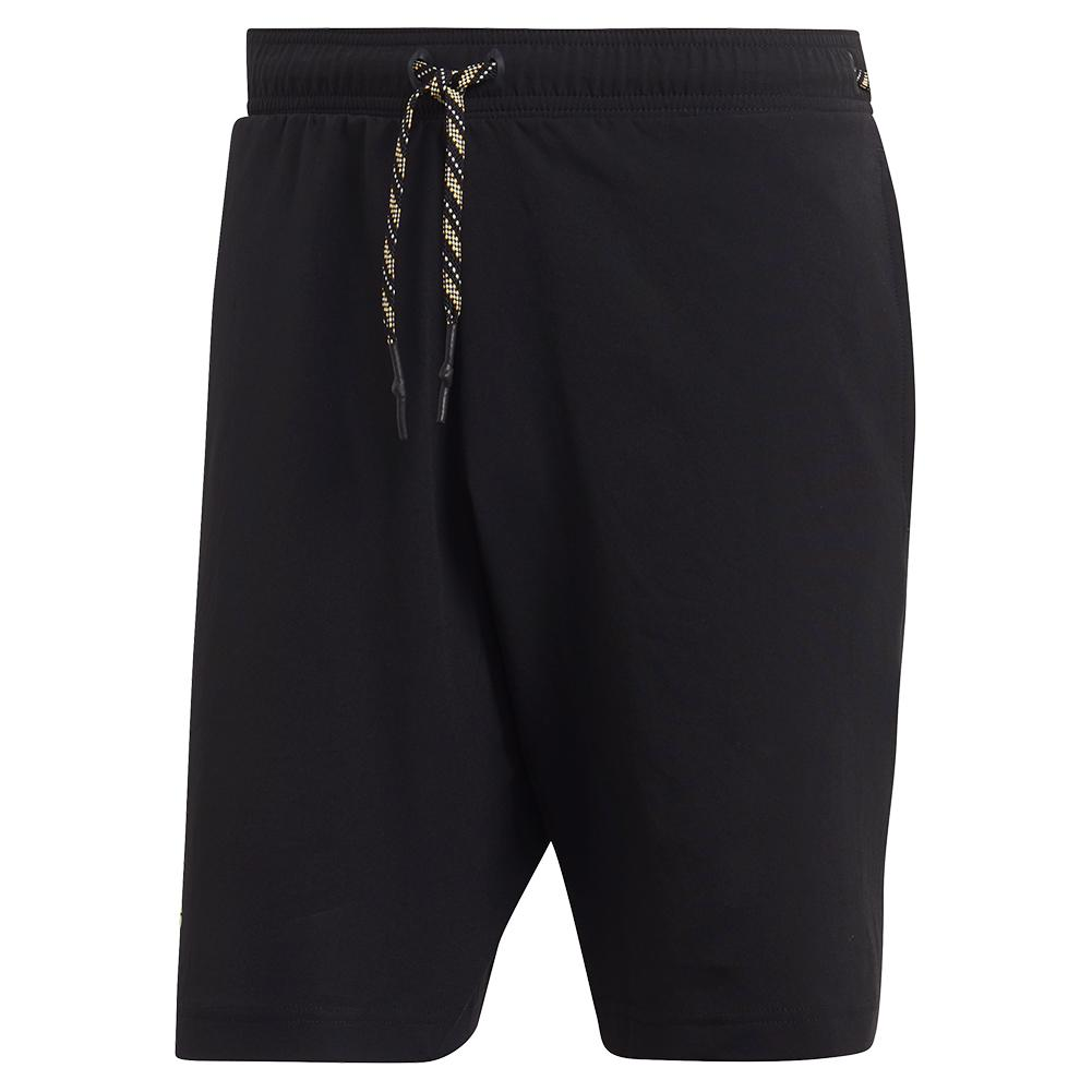 Men's Ny Solid 9 Inch Tennis Short Black