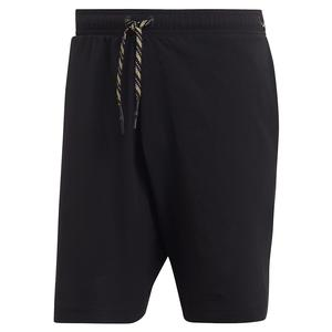 Men`s NY Solid 9 Inch Tennis Short Black