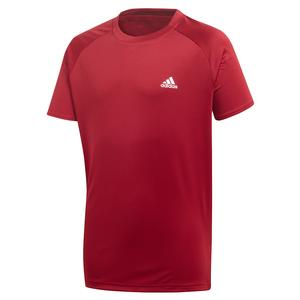 Boys` Club Tennis Top Collegiate Burgundy