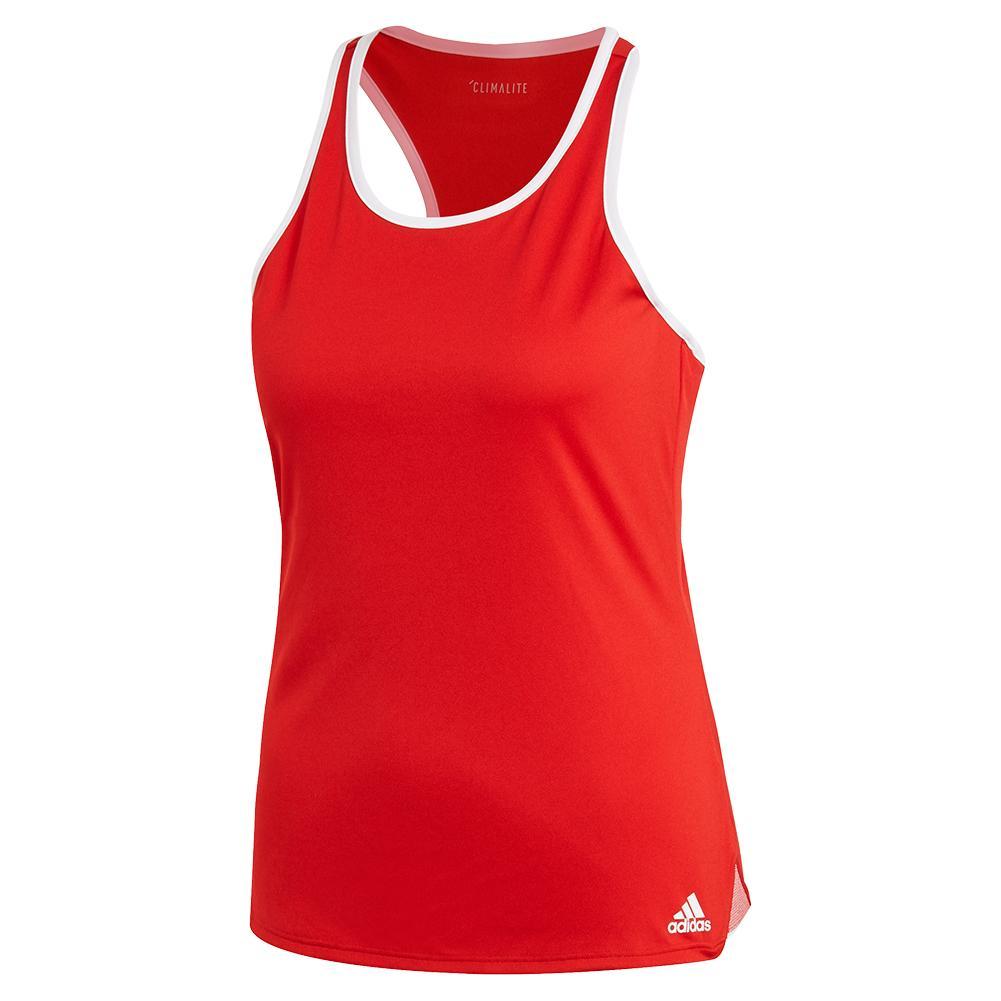 Women's Club Tennis Tank Scarlet