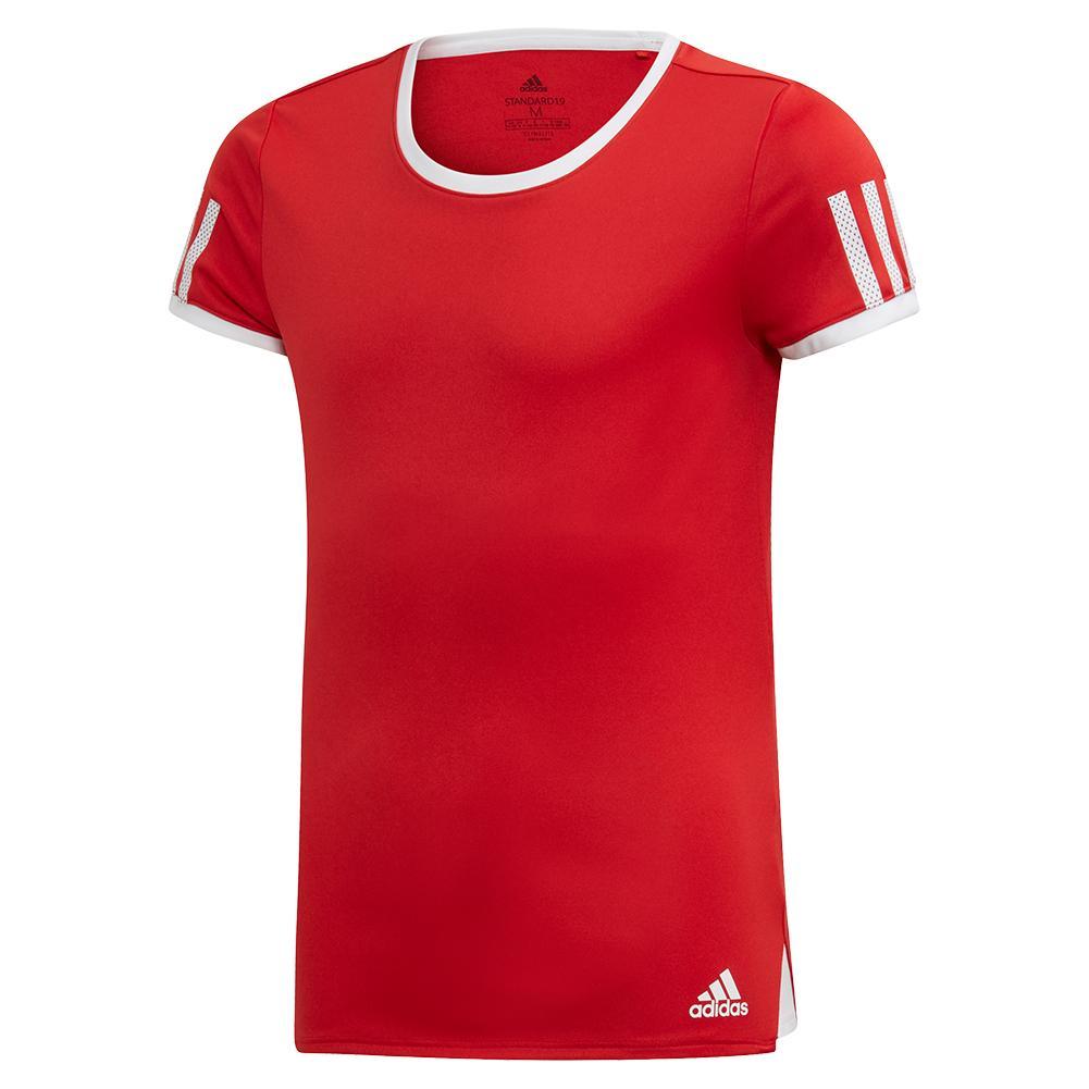 Girls ` Club Tennis Top Scarlet