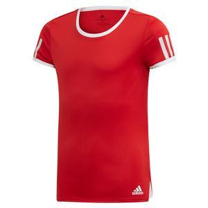 Girls` Club Tennis Top Scarlet