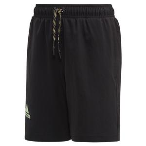 Boys` NY 7 Inch Tennis Short Black