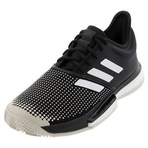 Women`s SoleCourt Boost Clay Tennis Shoes Core Black and White