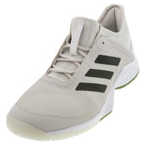 Men`s Adizero Club 2 Tennis Shoes Gray One and Tech Olive